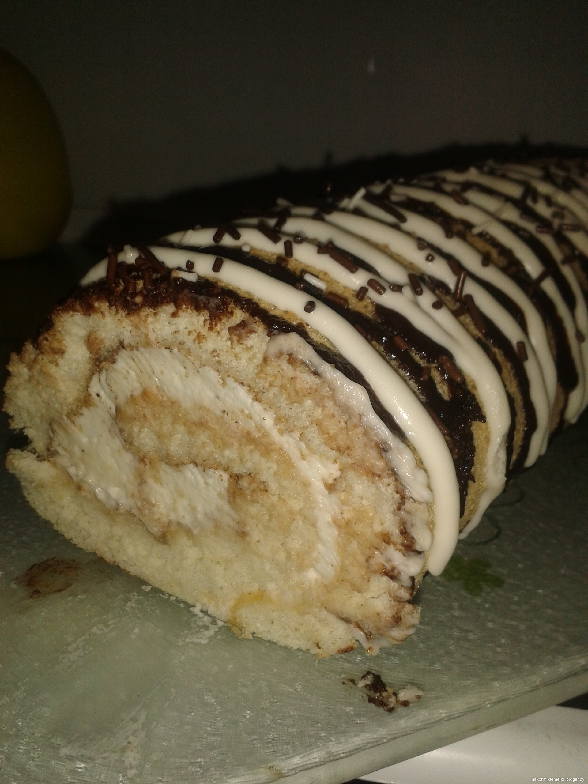 Крем для рулета бисквитного рецепт пошагово в