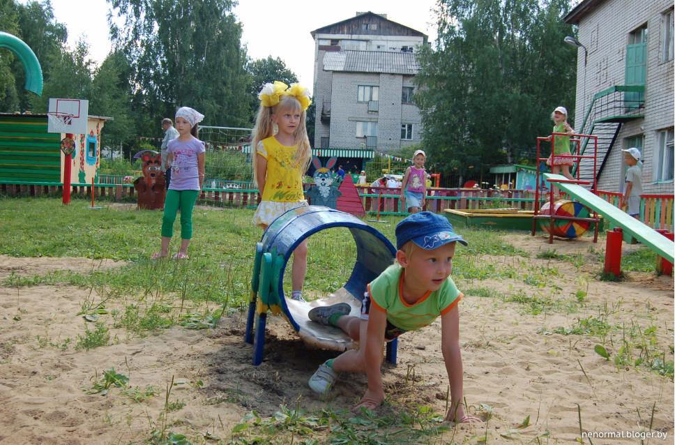 Спортивные участки в детском саду своими руками