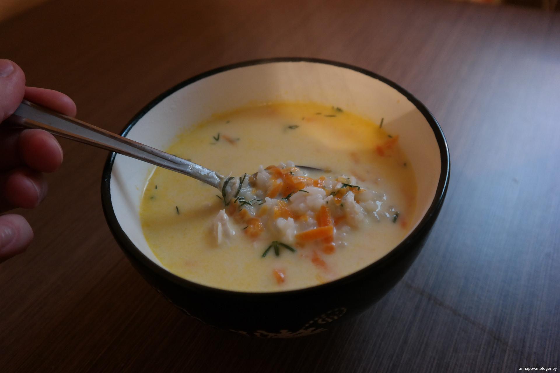 Рецепт простого сырного супа пошагово